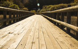Wooden bridge at outdoors Royalty Free Stock Photos
