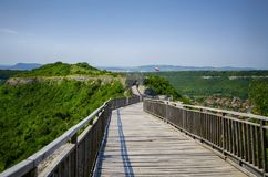 Ovech Fortress At Provadia, Bulgaria. Wooden Bridge in Ovech Fortress At Provadia, Bulgaria Royalty Free Stock Photos