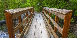 Free Wooden Bridge Over A Rocky Stream In Provo Canyon Royalty Free Stock Photos - 129157618