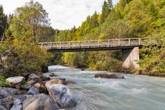 Gail River bridge in Western Carinthia, Austria Stock Photos