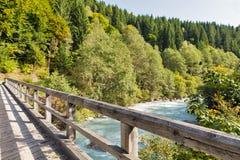 Gail River bridge in Western Carinthia, Austria Stock Photo
