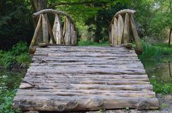 Wooden bridge over the lake Royalty Free Stock Photography