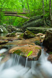 Wooden Bridge Over Mountain Stream North Carolina Royalty Free Stock Photos
