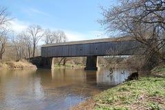 Wooden Bridge Over River stock photos