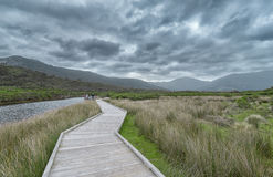 Wooden bridge over Tidal River Royalty Free Stock Photography