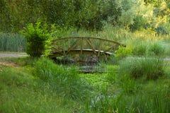 Wooden Bridge Park Stock Images
