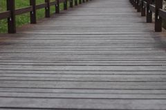 Wooden bridge path Stock Photography
