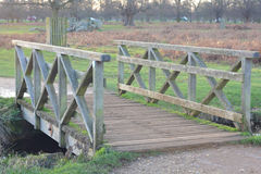 Wooden bridge. A photo of a wooden bridge Royalty Free Stock Images