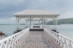 Wooden bridge pier at Koh Sri Chang Royalty Free Stock Photos