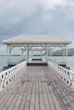 Wooden bridge pier at Koh Sri Chang Royalty Free Stock Images