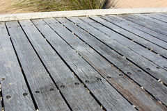 Wooden bridge planks Stock Image