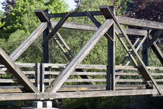 Wooden bridge - RAW format Royalty Free Stock Photography