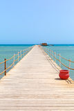 Wooden bridge on the red sea Stock Photography