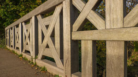 Wooden Bridge at Roundhay Park Stock Photo