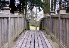 Wooden bridge into rural countryside Stock Photography