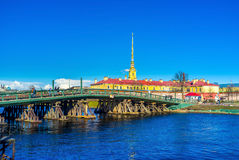 The wooden bridge Royalty Free Stock Photography