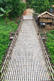 Wooden bridge in Sangkhlaburi Stock Images