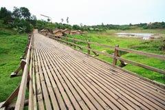 Wooden bridge in Sangkhlaburi Stock Photography