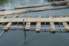 Wooden bridge in Sanklaburi, Thailand Stock Photos