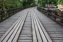 Wooden bridge in Sanklaburi, Thailand Royalty Free Stock Images