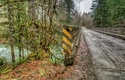 Wooden Bridge on Secluded Logging Road Stock Photos
