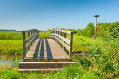The wooden bridge and the shadow Stock Image