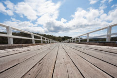 Wooden bridge and sky landscape Stock Image