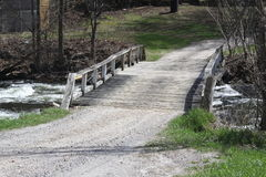 Bridge, Wooden over Stream Royalty Free Stock Images