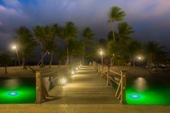 Camana Bay-Wooden Bridge stock image
