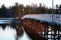 The wooden bridge  Stock Images