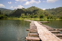 The wooden bridge. Royalty Free Stock Photography