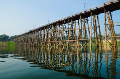 Wooden bridge in thailand. Image of wooden bridge in thailand Royalty Free Stock Photography