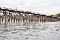 Wooden bridge,Thailand. Wooden bridge at sangklaburi ,Kanchanaburi, Thailand Royalty Free Stock Image