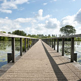 Wooden bridge. Wooden bridge to a fort in Bodegraven, The Netherlands Stock Photos