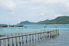 Wooden bridge to the sea Royalty Free Stock Photography
