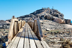Wooden bridge to viewpoint Royalty Free Stock Photo