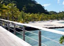 Wooden bridge on the tropical island Stock Photography