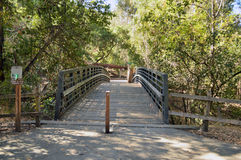 Wooden bridge at Twin Pines Park, Belmont Royalty Free Stock Images