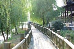 The wooden bridge Stock Images