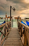 Wooden Bridge in Venice Royalty Free Stock Images
