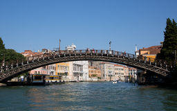 Wooden bridge in Venice Royalty Free Stock Photo
