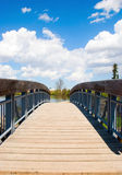 Wooden bridge view Royalty Free Stock Images