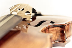 Wooden bridge of violin Royalty Free Stock Photography