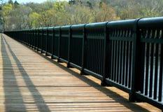 Wooden bridge walkway Stock Photos