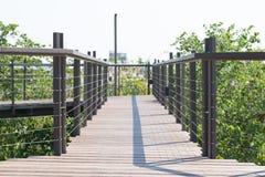 Wooden bridge walkway Stock Image