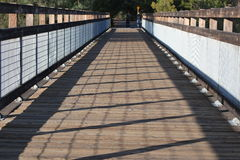 Wooden Bridge. This is  a wood deck bridge located over Weber Creek, Placerville, CA Royalty Free Stock Images