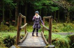 On a Wooden Bridge Stock Image