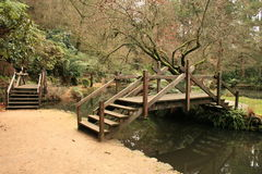 Wooden Bridges in Alfred Nicholas Gardens Stock Photos