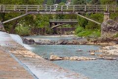 Wooden bridges. Royalty Free Stock Photo