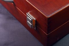 Wooden Briefcase Locked Royalty Free Stock Photo